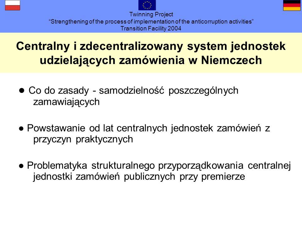 Twinning Project Strengthening of the process of implementation of the anticorruption activities Transition Facility 2004 Sugestie Działania zewnętrzne UZP Whistleblowing zachęcić informatorów zorganizować ochronę szkolić pracowników