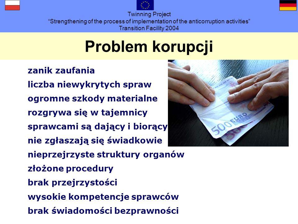 Twinning Project Strengthening of the process of implementation of the anticorruption activities Transition Facility 2004 Obowiązki informowania/jednostki centralne Kiedy należy informować.