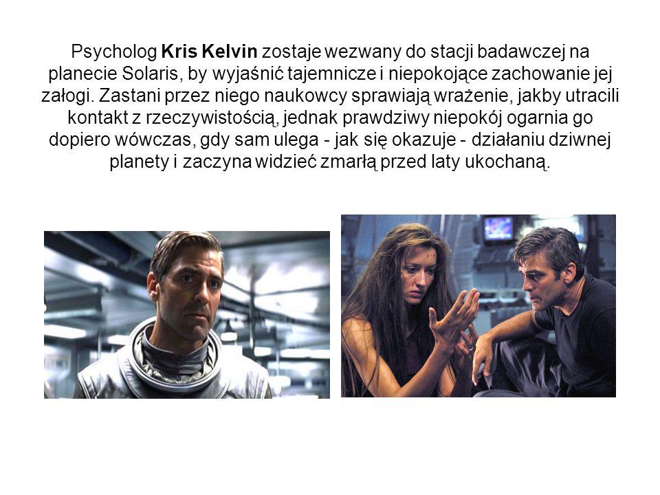 Psycholog Kris Kelvin zostaje wezwany do stacji badawczej na planecie Solaris, by wyjaśnić tajemnicze i niepokojące zachowanie jej załogi. Zastani prz