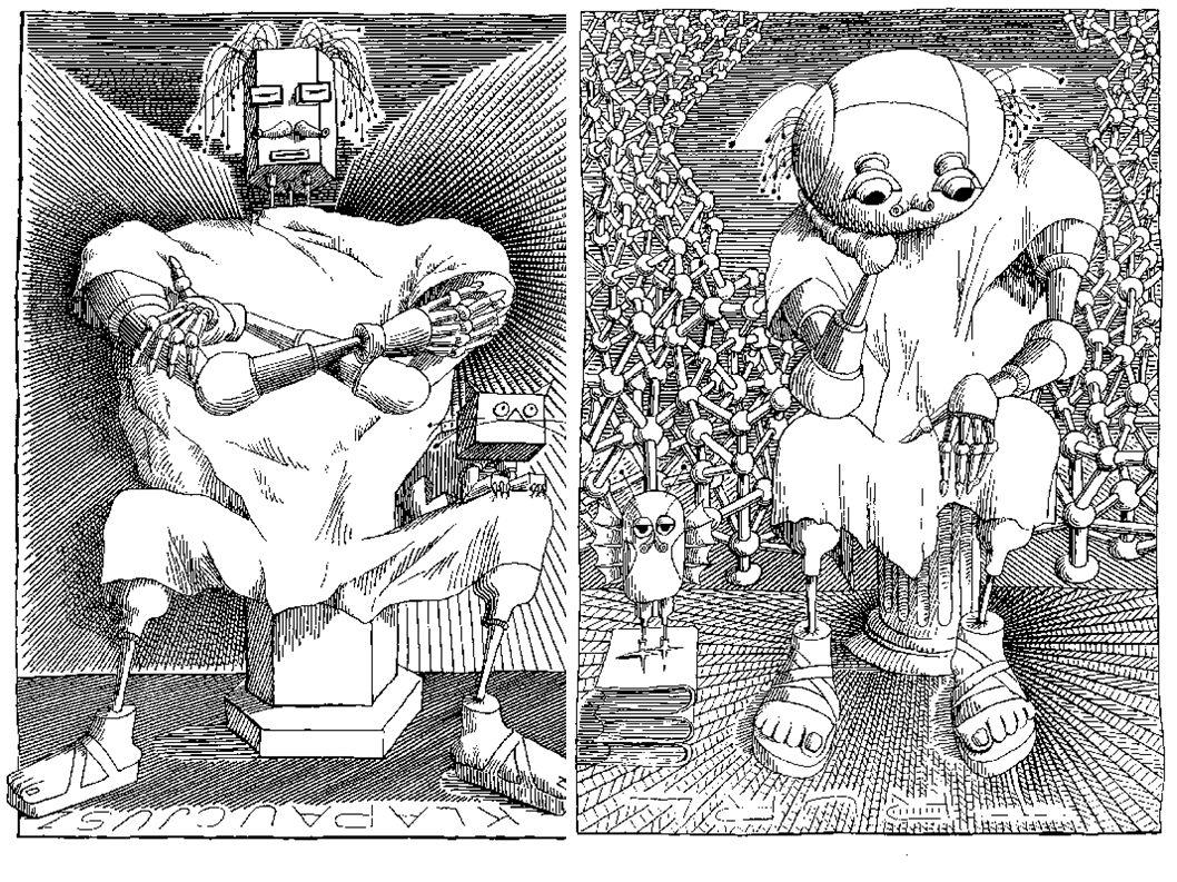 Kontynuacją Bajek robotów jest Cyberiada, w której autor po mistrzowsku łączy elementy baśni i filozoficznej powiastki, aby rozważać najważniejsze pro
