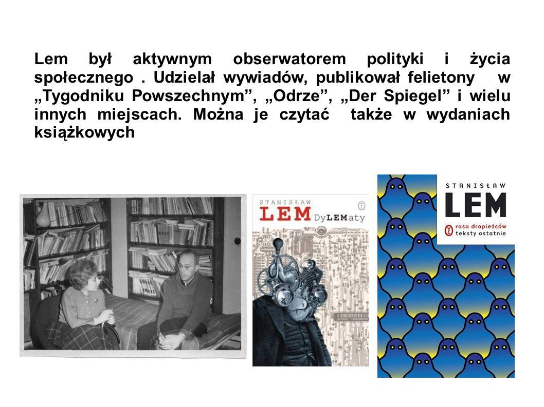 Eseistykę filozficzną Lem nazywa literaturą dyskursywną. Wśród niej najwyżej ceni sobie Summę technologiae (1964). Znajdujemy w niej przewidywania nt.