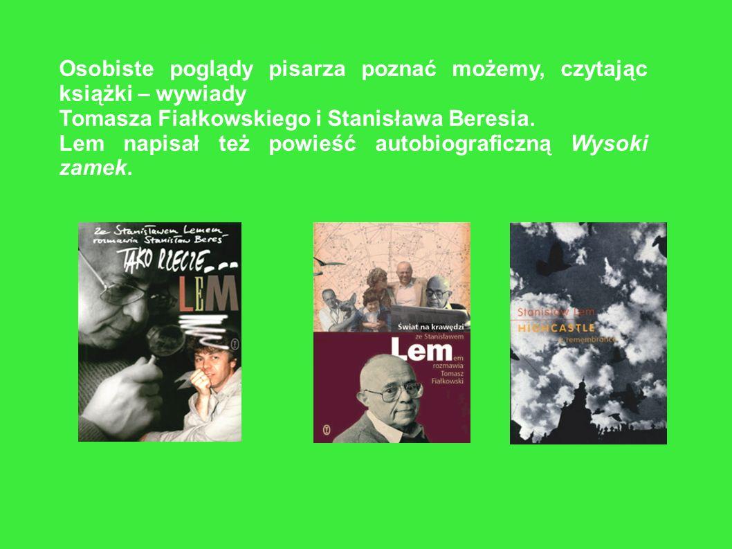 Lem był aktywnym obserwatorem polityki i życia społecznego. Udzielał wywiadów, publikował felietony w Tygodniku Powszechnym, Odrze, Der Spiegel i wiel