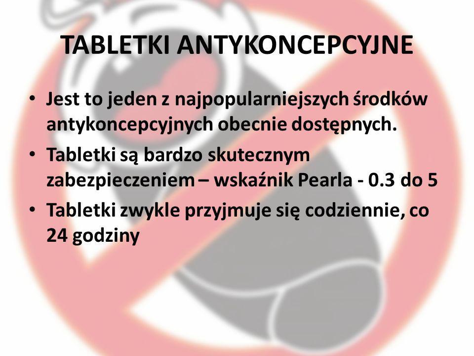 TABLETKI ANTYKONCEPCYJNE Jest to jeden z najpopularniejszych środków antykoncepcyjnych obecnie dostępnych. Tabletki są bardzo skutecznym zabezpieczeni