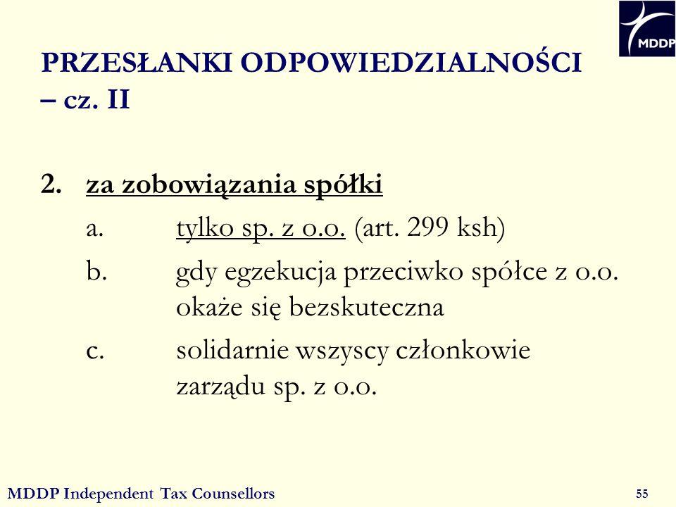 MDDP Independent Tax Counsellors 55 PRZESŁANKI ODPOWIEDZIALNOŚCI – cz.