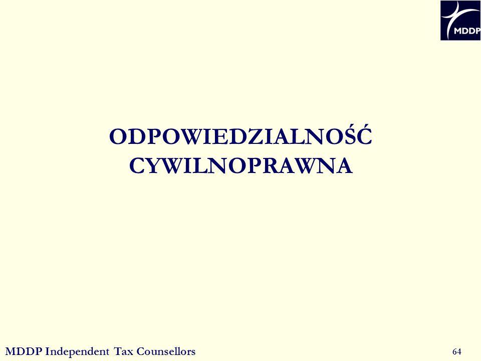 MDDP Independent Tax Counsellors 64 ODPOWIEDZIALNOŚĆ CYWILNOPRAWNA