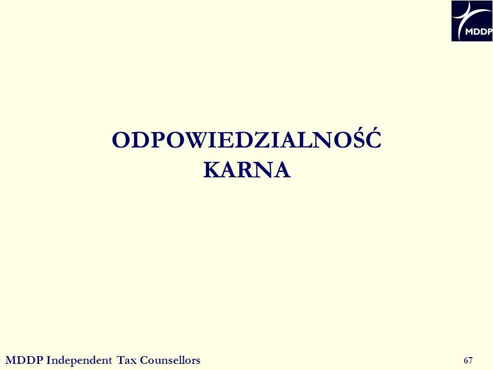 MDDP Independent Tax Counsellors 67 ODPOWIEDZIALNOŚĆ KARNA