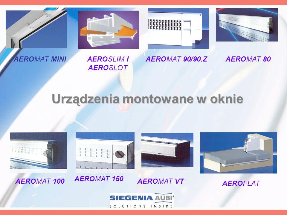 Urządzenia montowane w oknie AEROMAT 90/90.Z AEROMAT 100 AEROMAT 150 AEROMAT VT AEROSLIM I AEROSLOT AEROFLAT AEROMAT 80AEROMAT MINI