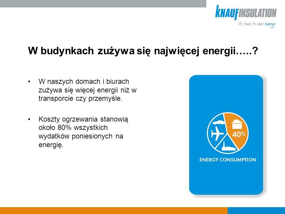 W budynkach zużywa się najwięcej energii…...