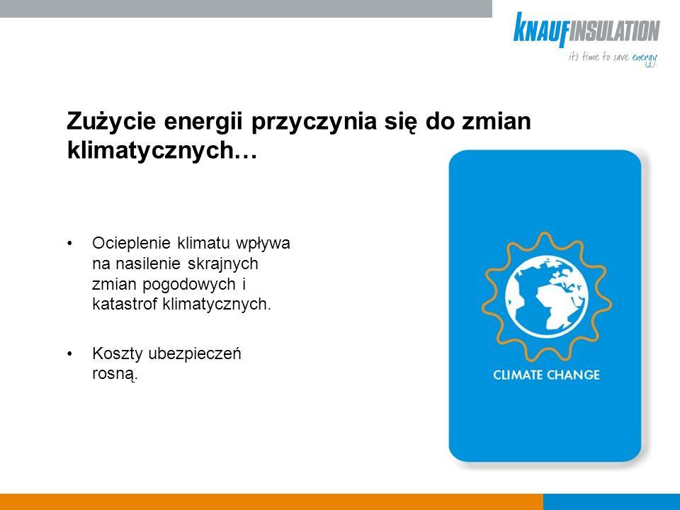 Zużycie energii przyczynia się do zmian klimatycznych… Ocieplenie klimatu wpływa na nasilenie skrajnych zmian pogodowych i katastrof klimatycznych.
