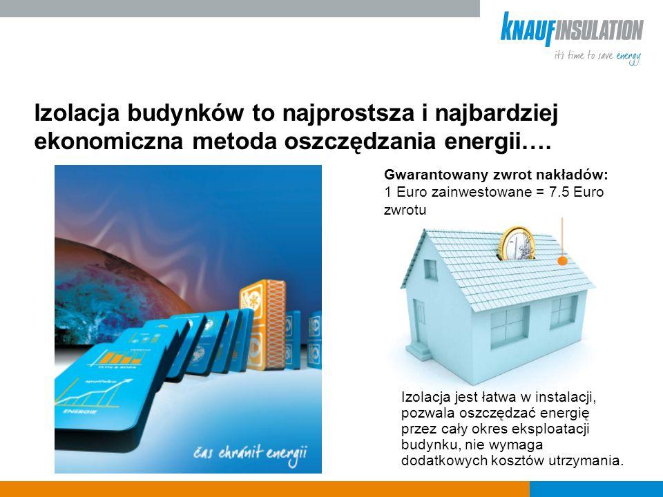 Izolacja budynków to najprostsza i najbardziej ekonomiczna metoda oszczędzania energii….