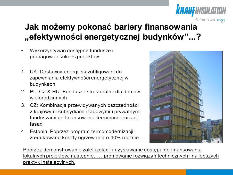 Jak możemy pokonać bariery finansowania efektywności energetycznej budynków....