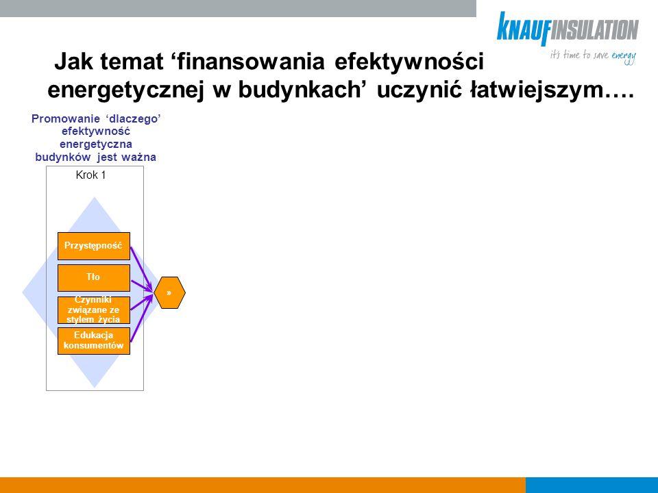 Promowanie dlaczego efektywność energetyczna budynków jest ważna » Przystępność Czynniki związane ze stylem życia Tło Edukacja konsumentów Krok 1 Jak temat finansowania efektywności energetycznej w budynkach uczynić łatwiejszym….