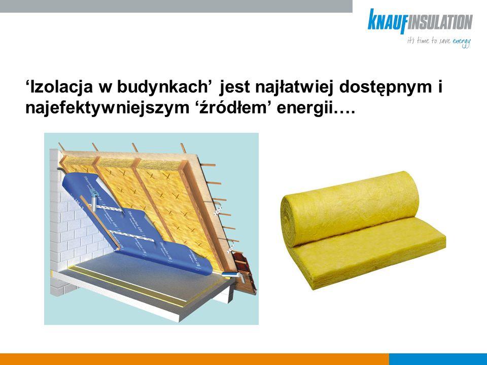 Izolacja w budynkach jest najłatwiej dostępnym i najefektywniejszym źródłem energii….