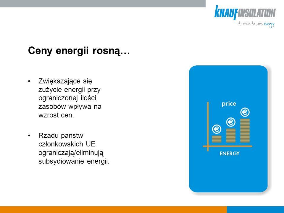Ceny energii rosną… Zwiększające się zużycie energii przy ograniczonej ilości zasobów wpływa na wzrost cen.