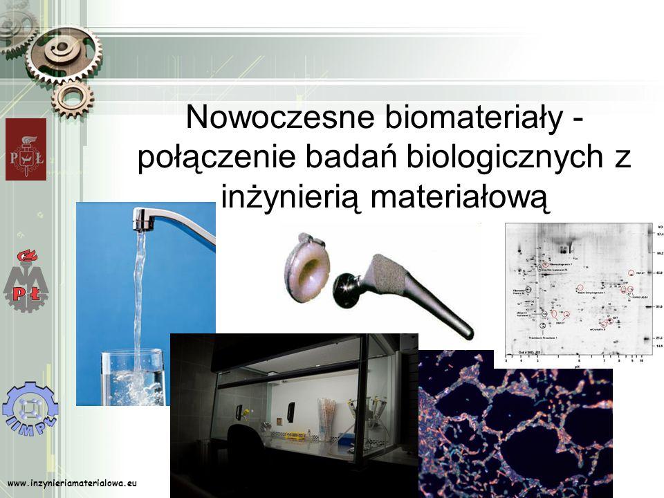 www.inzynieriamaterialowa.eu Nowoczesne biomateriały - połączenie badań biologicznych z inżynierią materiałową