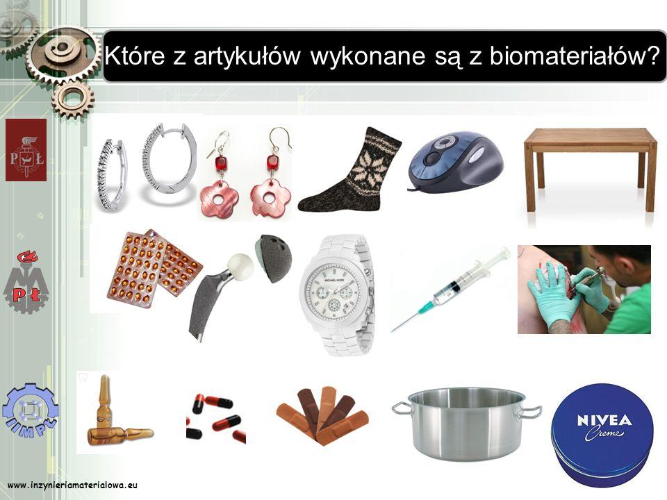 www.inzynieriamaterialowa.eu Które z artykułów wykonane są z biomateriałów?