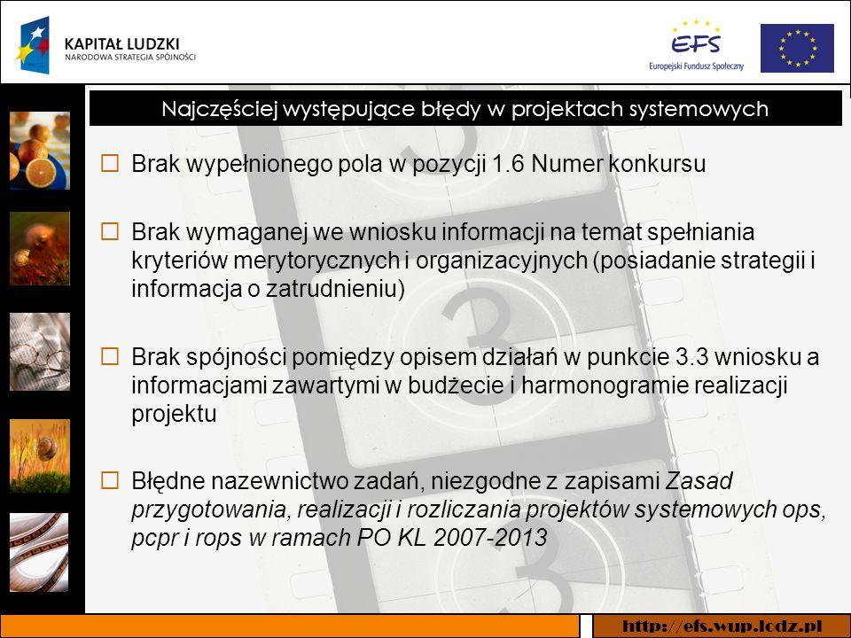 http://efs.wup.lodz.pl Umowa ramowa o dofinansowanie projektu systemowego w ramach Priorytetu VII POKL 2007-2013 Poddziałanie 7.1.1 – Rozwój i upowszechnianie aktywnej integracji poprzez ośrodki pomocy społecznej