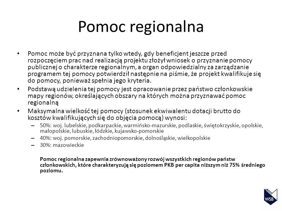Obecnie w Polsce obowiązują następujące programy operacyjne: – Program Infrastruktura i Środowisko Cel: poprawa atrakcyjności inwestycyjnej Polski i jej regionów przez rozwój infrastruktury technicznej przy jednoczesnej ochronie i poprawie stanu środowiska oraz rozwijaniu spójności terytorialnej – Program Operacyjny Innowacyjna Gospodarka Cel: wspieranie szeroko rozumianej innowacyjności – Program Operacyjny Kapitał Ludzki Cel: koncentracja na obszarach zatrudnienia, edukacji, integracji społecznej, rozwoju potencjału adaptacyjnego pracowników i przedsiębiorstw, budowie skutecznej administracji publicznej – Program Operacyjny Rozwój Polski Wschodniej Cel: przyspieszenie tempa rozwoju społeczno-gospodarczego Polski Wschodniej w zgodzie z zasadami zrównoważonego rozwoju – Regionalne Programy Operacyjne
