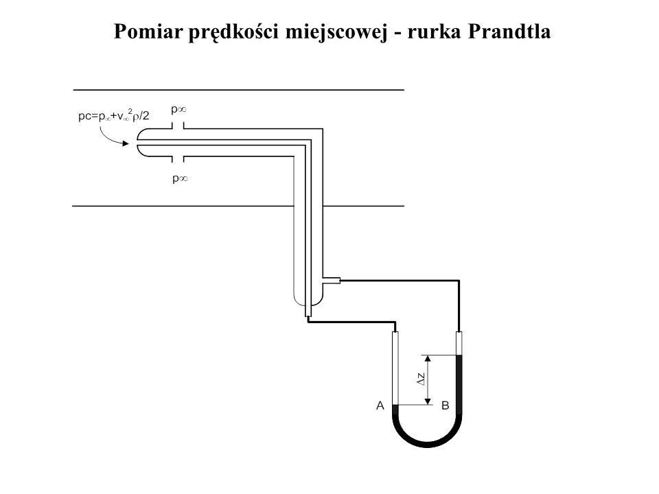 Pomiar prędkości miejscowej - rurka Prandtla