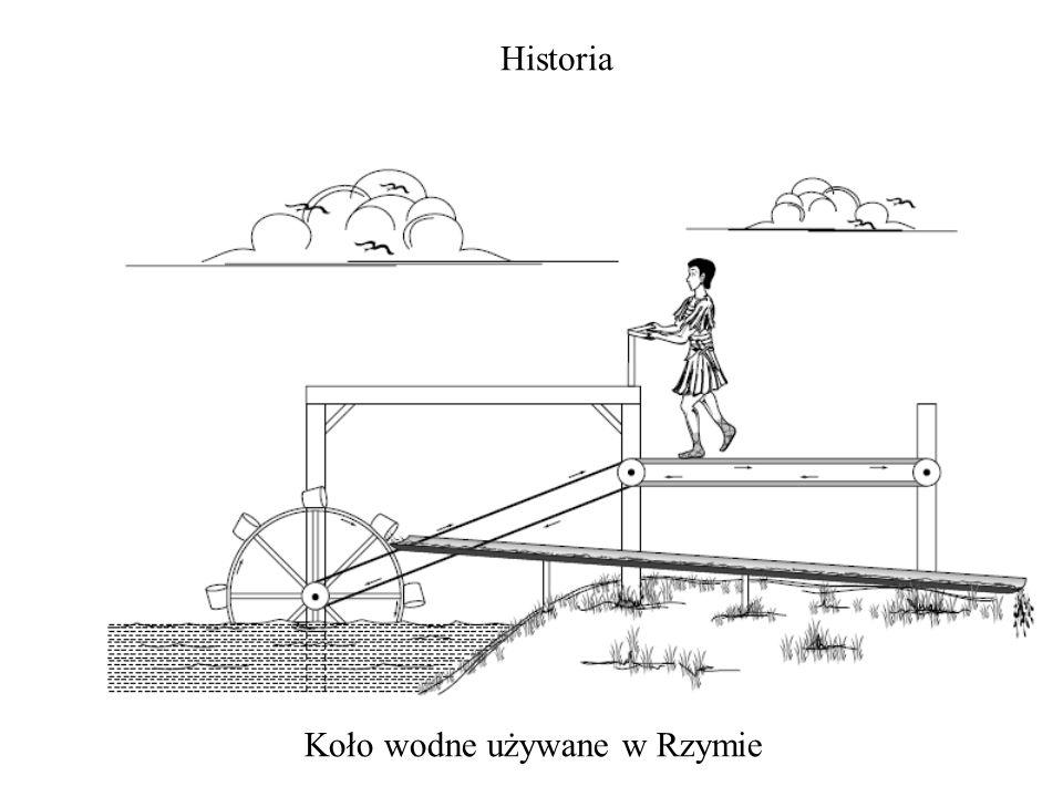 Koło wodne używane w Rzymie Historia