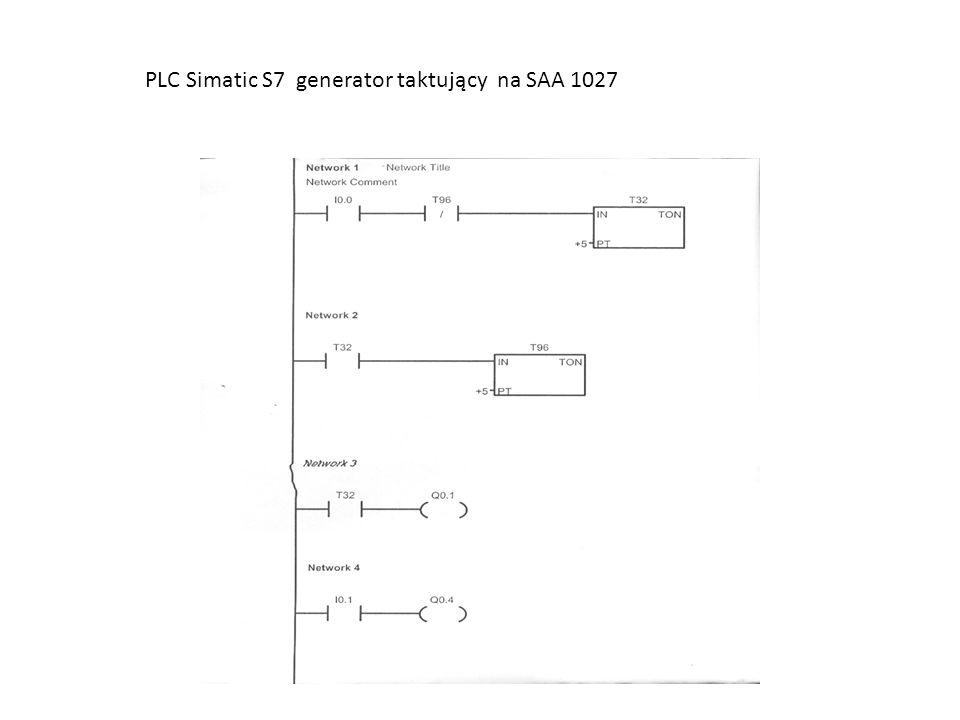 PLC Simatic S7 generator taktujący na SAA 1027
