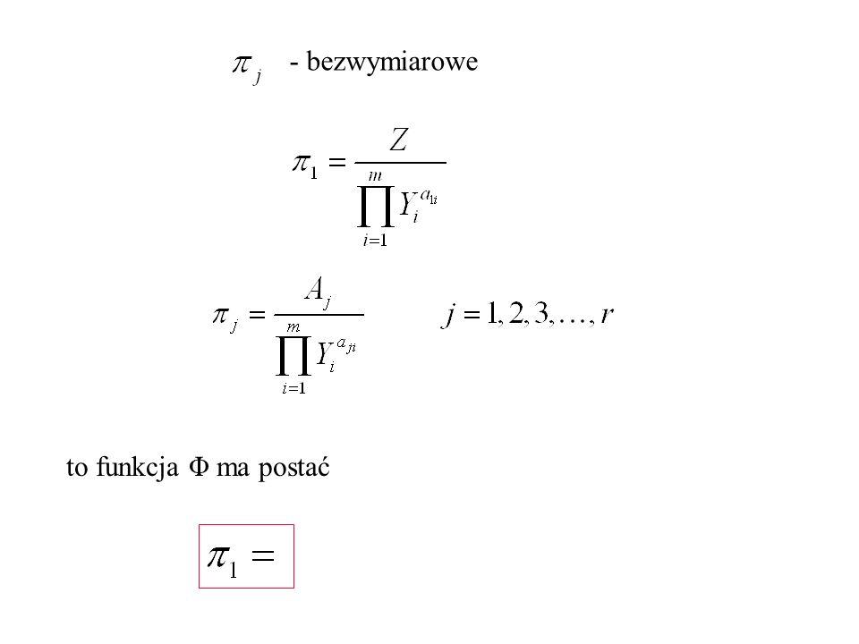 to funkcja Φ ma postać - bezwymiarowe