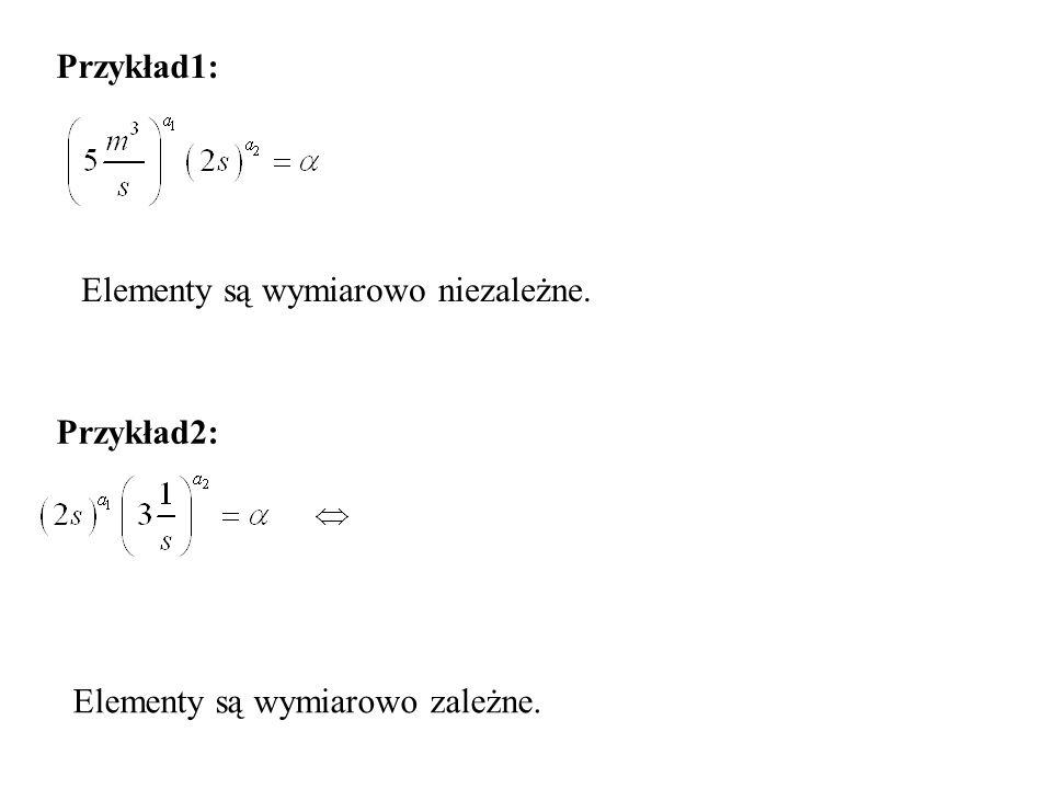 Przykład1: Przykład2: Elementy są wymiarowo niezależne. Elementy są wymiarowo zależne.