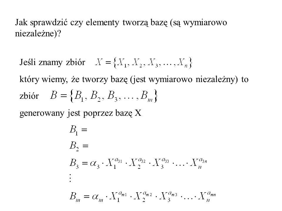 Jak sprawdzić czy elementy tworzą bazę (są wymiarowo niezależne).