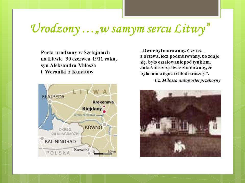 Urodzony …w samym sercu Litwy Dwór był murowany. Czy też - z drzewa, lecz podmurowany, bo zdaje się, było oszalowanie pod tynkiem. Jakoś nieszczęśliwi