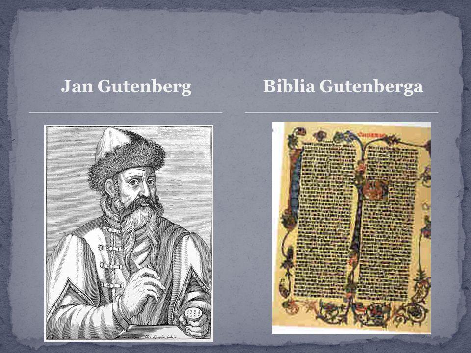 Jan GutenbergBiblia Gutenberga