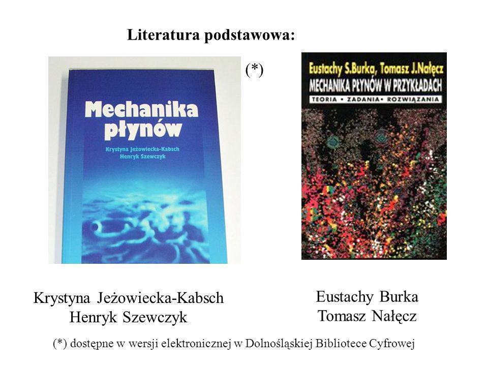 Literatura podstawowa: (*) (*) dostępne w wersji elektronicznej w Dolnośląskiej Bibliotece Cyfrowej Krystyna Jeżowiecka-Kabsch Henryk Szewczyk Eustachy Burka Tomasz Nałęcz