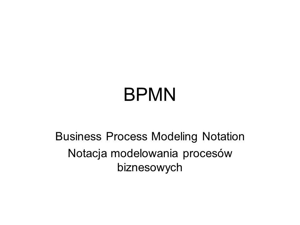 BPMN Business Process Modeling Notation Notacja modelowania procesów biznesowych