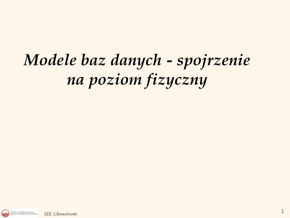 12 SZB, L.Banachowski Postulaty Codda v Postulat pełnego języka danych.