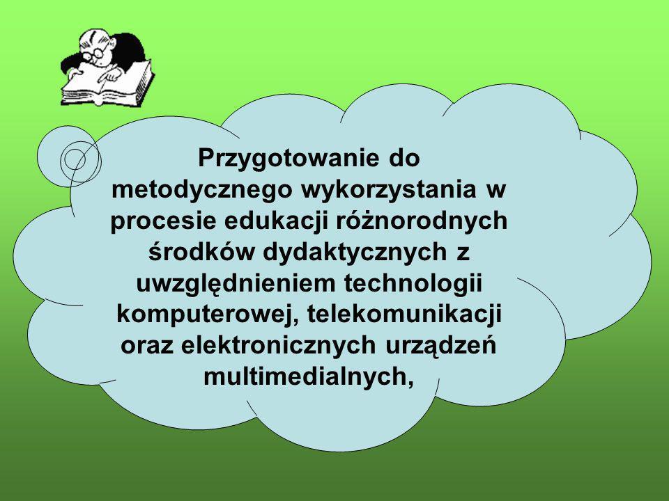 Kwalifikacje pedagogiczne Duży zasób wiedzy i umiejętności pedagogicznych.