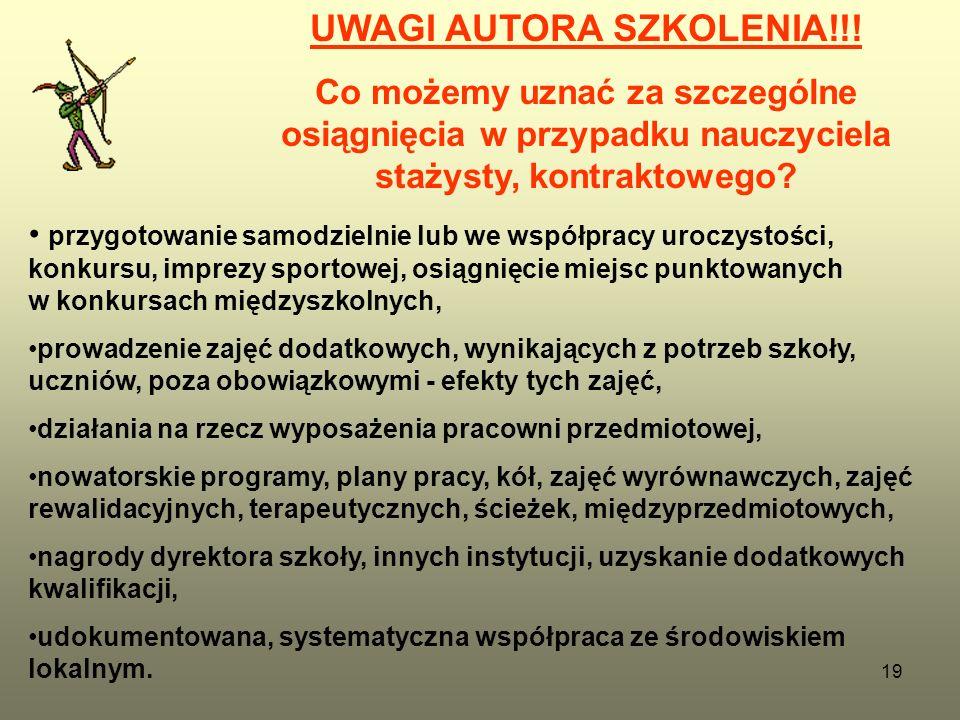 19 UWAGI AUTORA SZKOLENIA!!.