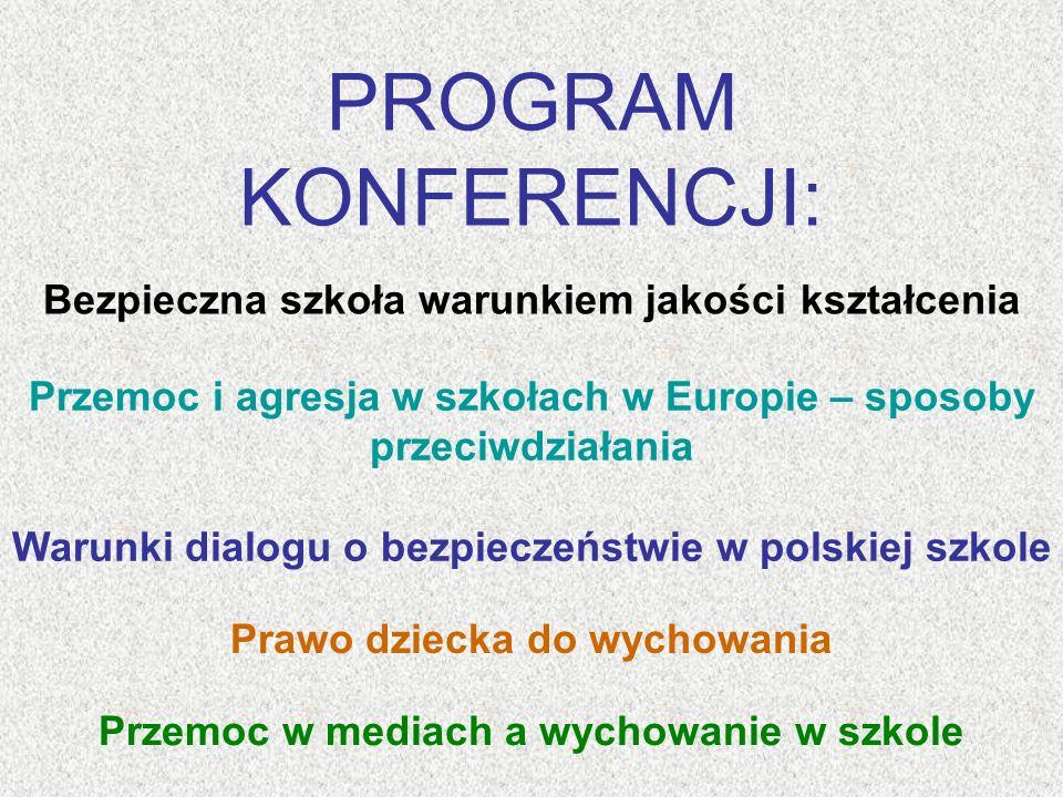 Tylko w dobrej i bezpiecznej szkole, zbudowanej na wysokich wartościach uniwersalnych młodzi Polacy mogą kształtować swoją osobowość oraz świadomość obywatelską i patriotyczną, aby osiągnąć pełnię indywidualnego rozwoju a także przygotowanie do życia w rodzinie oraz społeczeństwie.