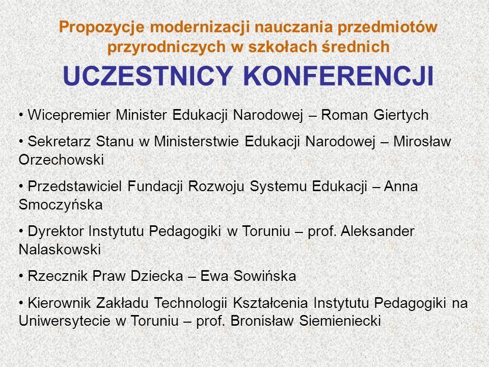 Przedstawiciel Centralnego Ośrodka Doskonalenia Nauczycieli – Teresa Łęcka Historyk, wykładowca akademicki – prof.