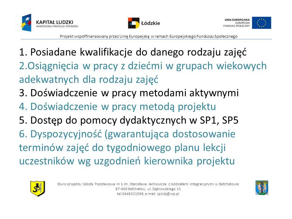 Biuro projektu: Szkoła Podstawowa nr 1 im.
