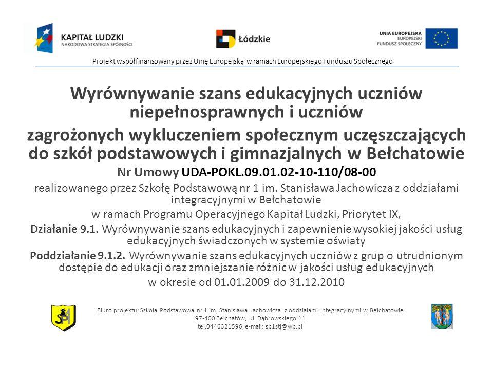 DZIĘKUJĘ ZA UWAGĘ ZAPRASZAM DO DYSKUSJI BEŁCHATÓW, 11.01.2009R.