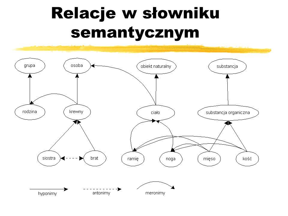 Relacje w słowniku semantycznym