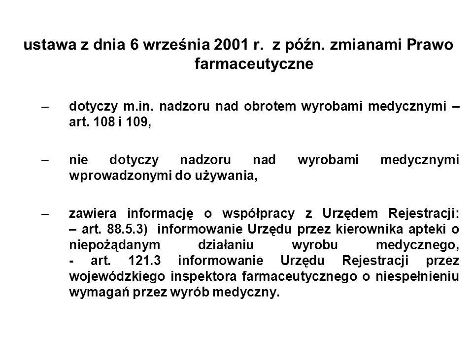 ustawa z dnia 14 marca 1985 r, z późn.zmianami - o Państwowej Inspekcji Sanitarnej –dotyczy m.in.