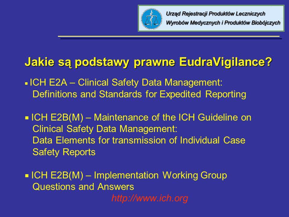 Jakie są podstawy prawne EudraVigilance.