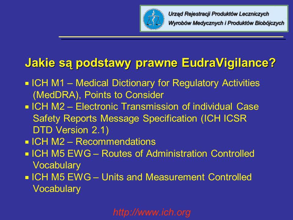 EudraVigilance Medicinal Product Dictionary EudraVigilance Medicinal Product Dictionary baza do zbierania danych o produktach leczniczych, ich aktualizowania, dokonywania analizy naukowej oraz kodowania dostępna dla wszystkich użytkowników EudraVigilance składa się z: - Product Report Database, - Scientific Product Database, - Product Index Database