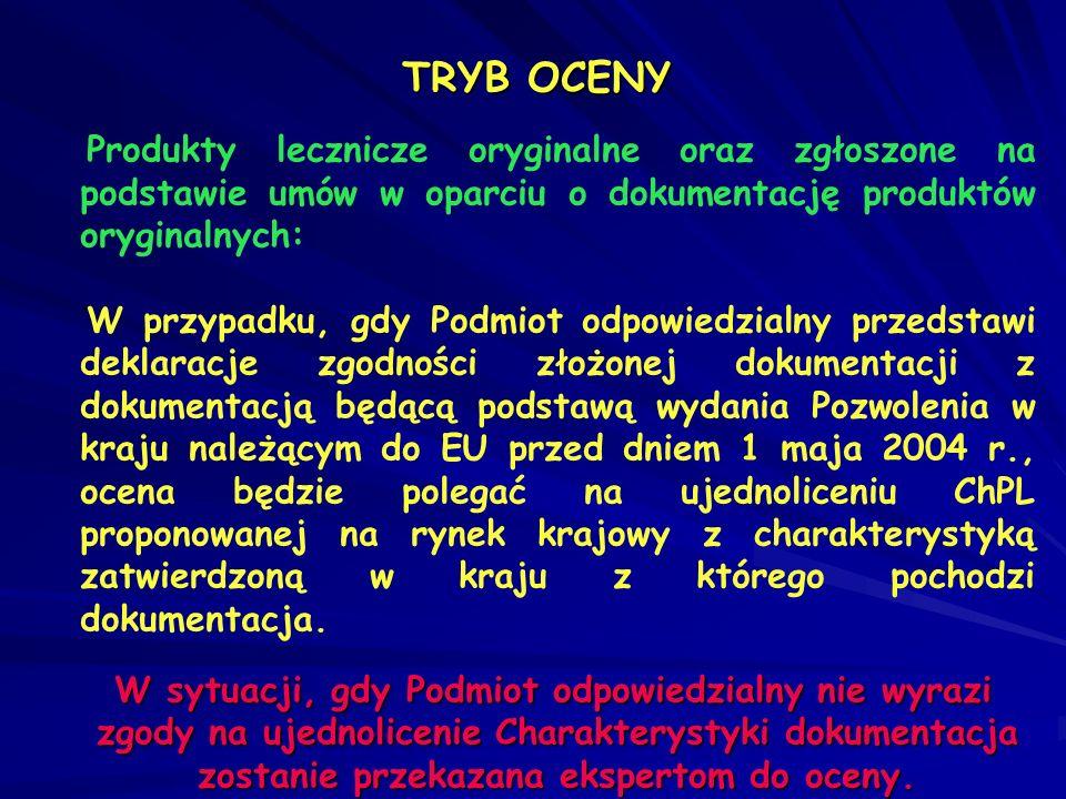 Produkty lecznicze odtwórcze zarejestrowane w EU na drodze MRP, w Polsce procedurą narodową: Proces harmonizacji przeprowadzony zostanie na drodze administracyjnej na podstawie deklaracji zgodności przedstawionej dokumentacji z dokumentacją zatwierdzoną w kraju RMS (ze wszystkimi zmianami).