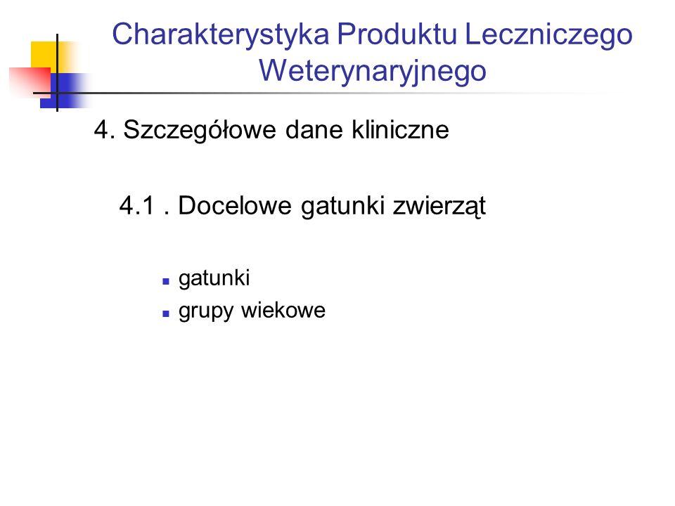 Charakterystyka Produktu Leczniczego Weterynaryjnego 4.