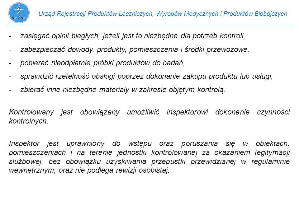 Urząd Rejestracji Produktów Leczniczych, Wyrobów Medycznych i Produktów Biobójczych -zasięgać opinii biegłych, jeżeli jest to niezbędne dla potrzeb ko