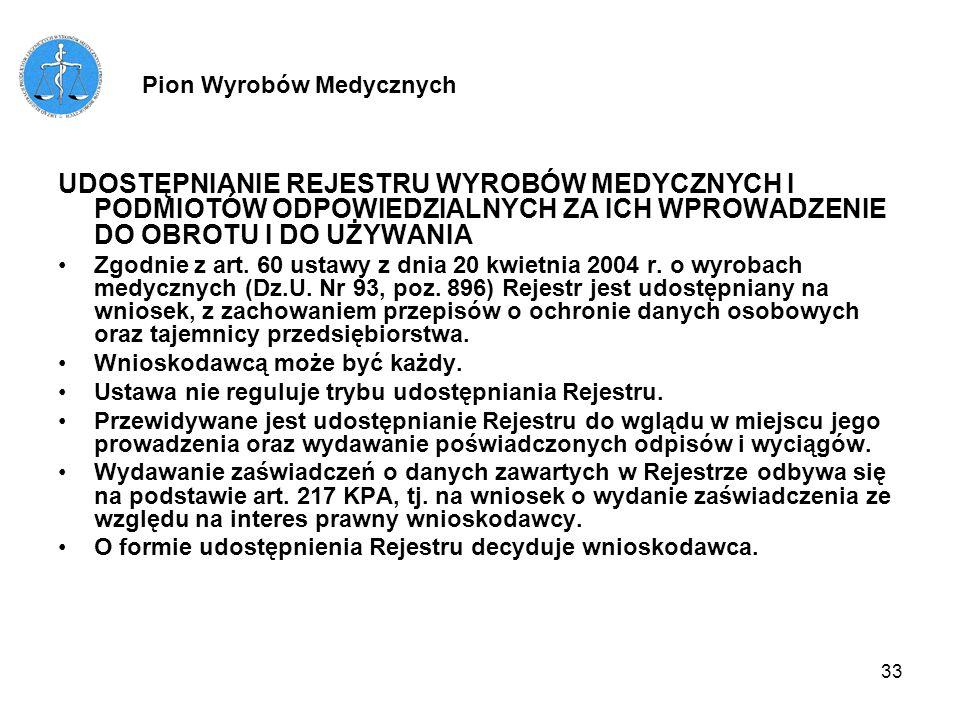 34 WYDAWANIE ZAŚWIADCZEŃ O WPISIE DO REJESTRU Wydawanie są następujące zaświadczenia: - zaświadczenie potwierdzające wpis do Rejestru, - zaświadczenie potwierdzające zachowanie ważności wpisu do Rejestru na podstawie art.
