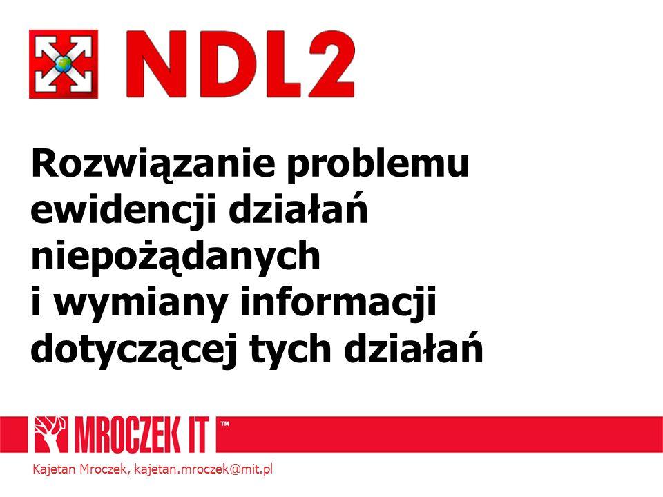 Rozwiązanie problemu ewidencji działań niepożądanych i wymiany informacji dotyczącej tych działań Kajetan Mroczek, kajetan.mroczek@mit.pl
