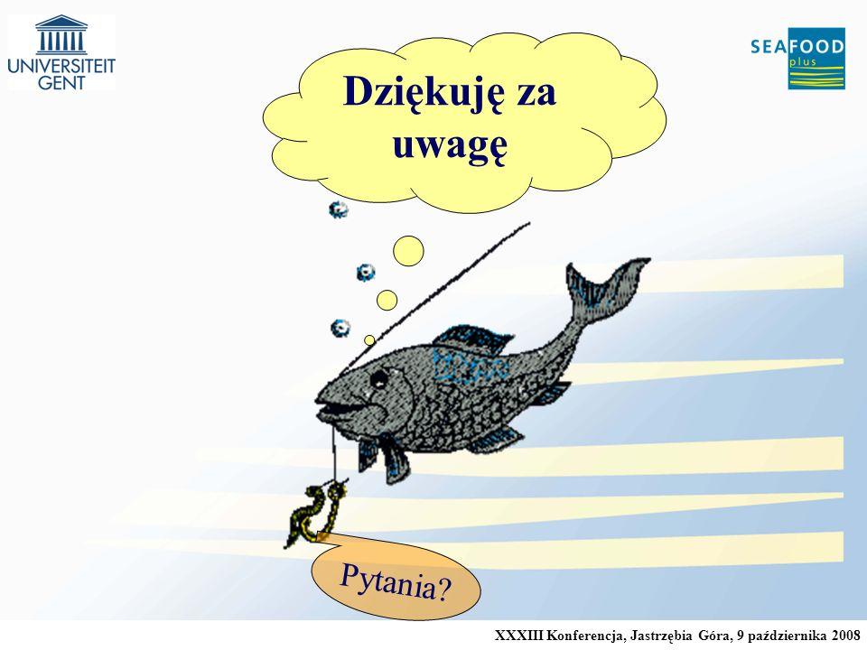 XXXIII Konferencja, Jastrzębia Góra, 9 października 2008 Dziękuję za uwagę Pytania?