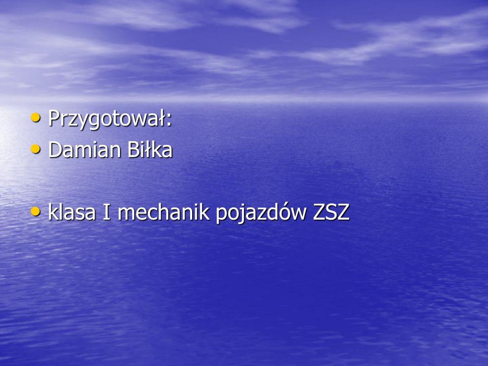 Przygotował: Przygotował: Damian Biłka Damian Biłka klasa I mechanik pojazdów ZSZ klasa I mechanik pojazdów ZSZ